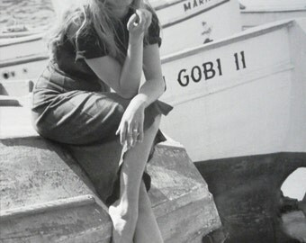 Brigitte Bardot and Boat (Medium Poster)