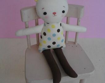 Baby Bear Plushie - Handmade cloth doll, baby toy, plush toy, softie