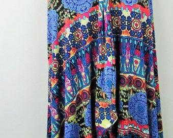 Plus size  jerseyknit print floor length maxi skirt