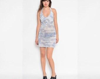 Vintage Crochet Sheer Beach Dress