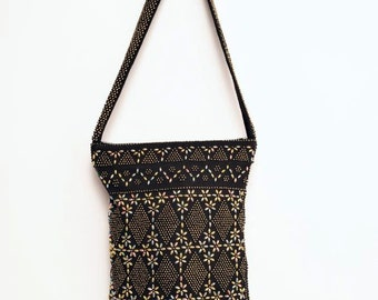 Vintage Beaded Bag with Tassels