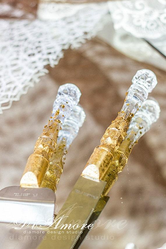 Art Deco Wedding Cake Server