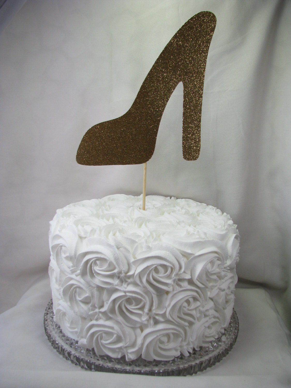 Gold High Heel Cake Topper