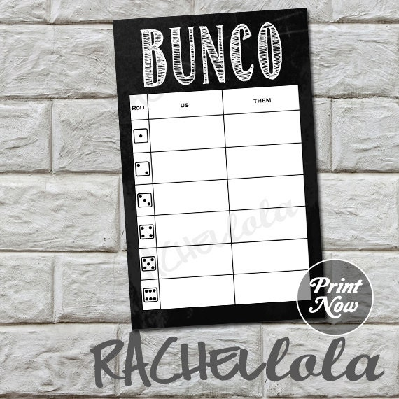 Chalkboard bunco table tally sheets, us them tally cards, score note ...