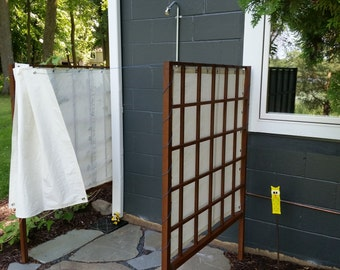 Outdoor Shower Curtain from Recycled Sails