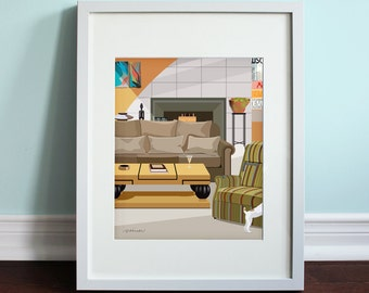 Frasier's Apartment - Frasier, Frasier Crane Art Print, TV sitcom
