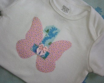 Baby Girl 1st Birthday Outfit | Butterfly Garden First Birthday | Fairy 1st Birthday Girl Outfit | Cake Smash Girl '1' Shirt | Birthday Gift