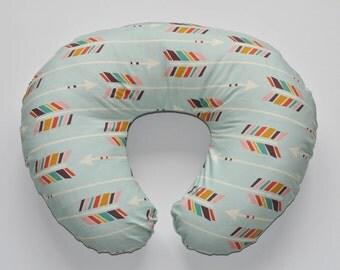 Nursing Pillow Cover Mint Arrows. Nursing Pillow. Nursing Pillow Cover. Minky Nursing Pillow Cover. Arrow Nursing Pillow Cover.