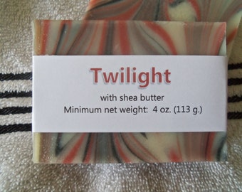 Twilight Scented Cold Process Soap with Shea Butter--50% OFF