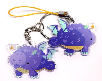 Dragonatee, Cute Dragon, Cute Manatee Keychain, Phone Charm, Dragon, dracaenas, fantasy, dragon charm, animal lover, kawaii, cute animals