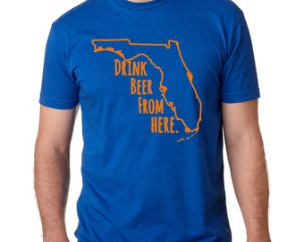 Gators & Craft Beer- Florida- FL- Drink Beer From Here shirt
