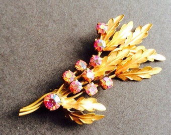 FLOWER BOUQUET BROOCH pin vintage costume jewellery