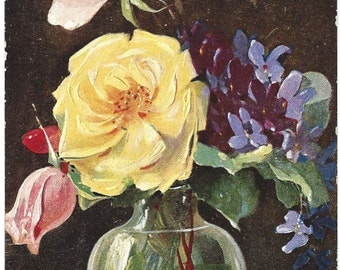 Antique Postcard - Mary Golay - German American Novelty Art - Floral Series 518