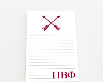 Arrow Notepad | Pi Beta Phi Stationery
