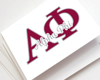 Alpha Phi Note Cards