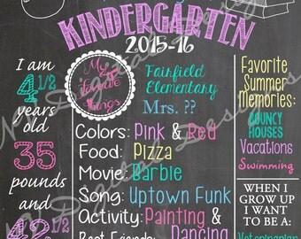 First Day of School chalk board- Back to school chalk sign- Digital File