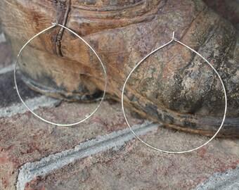 Large 3 Inch Sterling Silver Hoop Earrings, BoHo Hoop Earrings,