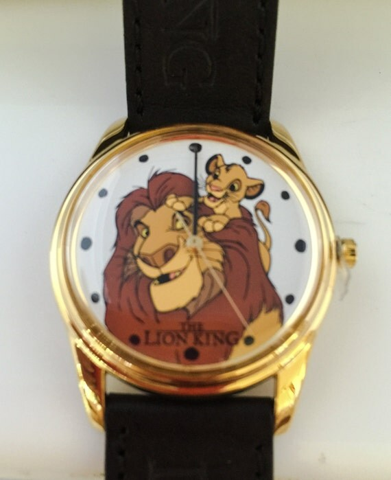 Disney S Lion King Timex Watch Black Leather Band Eastman