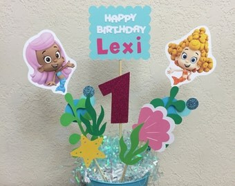 Bubble Guppies Birthday Decoration Centerpiece   Under The Sea, Ocean,  Mermaid Centerpiece