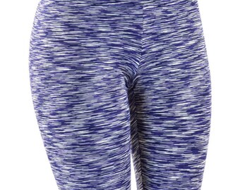 Navy Space Dyed Soft Knit High Waist Leggings -151193