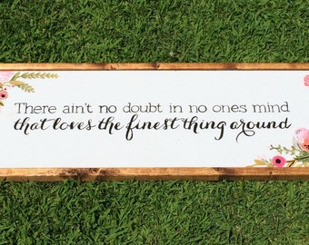 Wooden wedding sign, Love sign