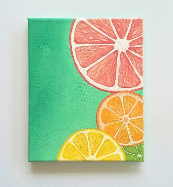 Items similar to colorful wall art bright wall art fruit Colorful wall decor
