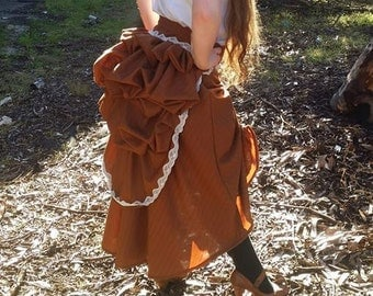 Steampunk pinstripe bustle and skirt