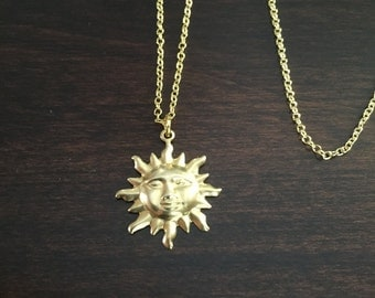 Sun necklace etsy for Cheap gold jewelry near me