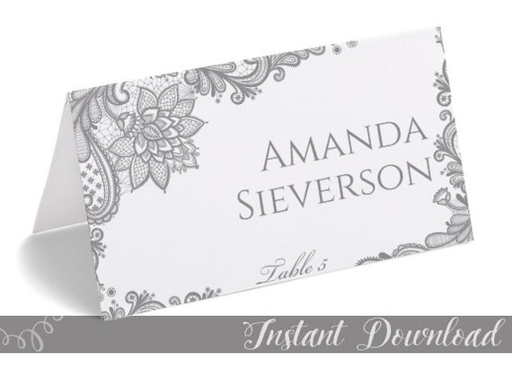 wedding place cards lace artistry cardpro