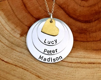 Personalized Three Names Necklace