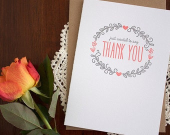 Thank You - Letterpress Card