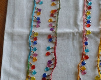 Beads on fabric band