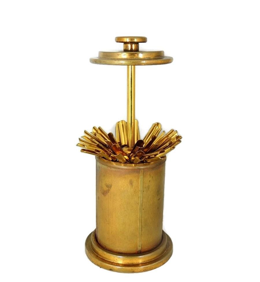 Brass Cigarette Holder Vintage Table Top