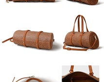 Leather Shoulder Bag -Elegant Pillow-shaped Leather Shoulder Bag- Brown Small -Crossbody Bag Small -High Quality and Returns Guarantee