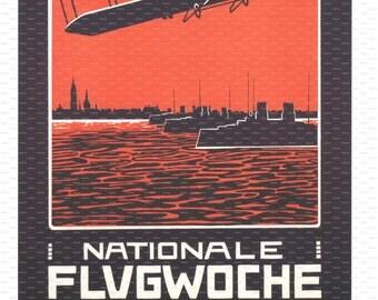 Nationale Fligwoche, Kiel. Germany. Aviation Poster. Flight Poster. Airshow Poster.