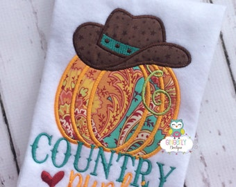 Paisley Print County Punkin Pumpkin Shirt or Bodysuit, Girl Pumpkin Shirt, Pumpkin Shirt, Fall Pumpkin Shirt, Pumpkin Patch Shirt