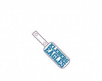 KLEBERG Eagles - In The Hoop - Snap/Rivet Key Fob - DIGITAL Embroidery DESIGN