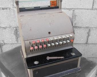 Antique 1958 1950s Old Vintage National Working Till Register - Cash Drawer Shop Display UK Made