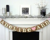 Custom Name Banner / Kids Room Decor / Childs Name / Personalized Name / Nursery Sign / Wall Art / Nursery Garland Sign / Baby Name / Rustic