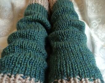 Seaspray Knitted Leg Warmers