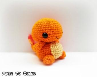 Crochet Charmander Inspired Chibi Pokemon