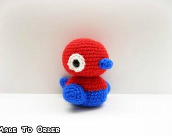 Crochet Porygon Inspired Chibi Pokemon