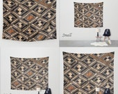 African Art - Art Tapestry Wall Tapestry Photo Tapestry / Featuring Exclusive Kuba Raffia Cloth Design #1 / Large Wall Art ~ Wall Hanging