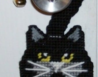 BLACK CAT - BOO Front Door Halloween Door Hanger