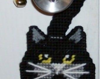 BLACK CAT - BOO Front Door Halloween Door Hanger