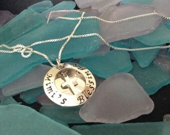 Gigi's/Mimi's/Nana's/Etc... Blessings - Sterling Silver Hand Stamped Necklace