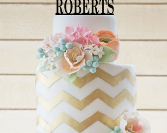 Wedding Cake Topper Wedding Decor Personalized Cake Topper