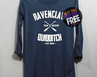 Ravenclaw Quidditch Shirt Long Sleeve TShirt T Shirt - Size S M L XL