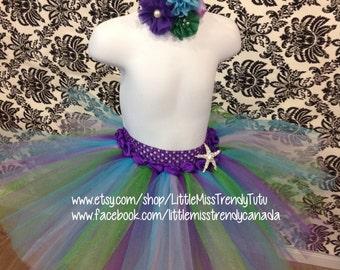 Little Mermaid Tutu Set, Little Mermaid Tutu/Headband, Ariel Tutu, Birthday Mermaid Tutu, Little Mermaid Tutu, Tutu, Couture Tutu