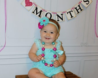 Baby Month Photo Prop Banner 1-12 months